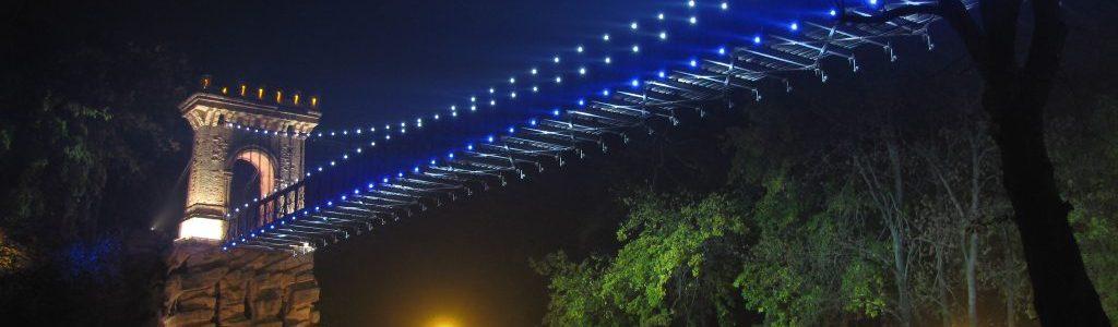 Podul suspendat - Parcul Romanescu, Craiova